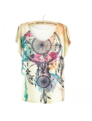 Moda Sueño Catcher Impreso Camiseta