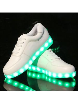 Moda LED luz dentro de zapatos Luminous USB carga colorido Casual Sneakers