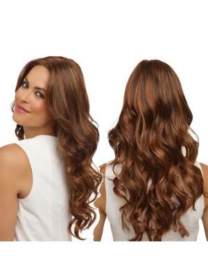 Nueva peluca de cabello largo y ondulado largo africano marrón ondulado