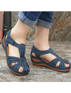 Zapatos de verano de moda Sandalias de mujer con fondo antideslizante de tacón inclinado