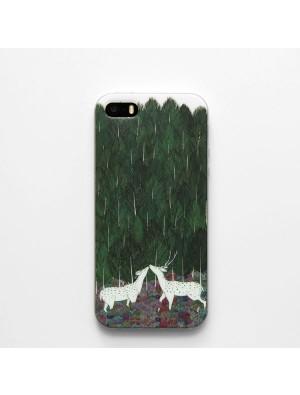 Caja de Iphone 5 / 5s / 6 / 6s de silicona Sika Deer, silicona, pintada a mano, fresca