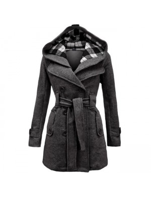 Sudadera con capucha y forro polar de vellón de moda