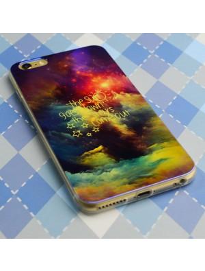 Estuche suave fino místico del gel de silicona de la nube de la estrella de la noche para Iphone 5 / 5S / 6 / 6Plus