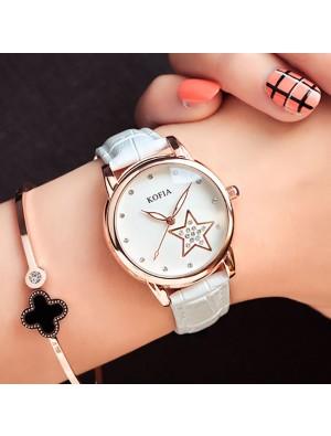 Reloj de pulsera luminoso de cuarzo Luminous Cortical Star Cute Diamond Waterproof