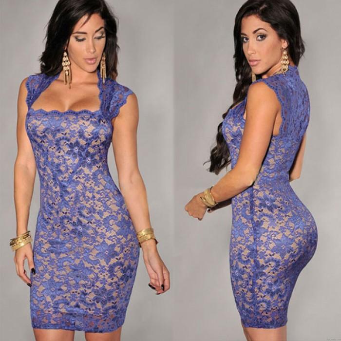 Elegante vestido de fiesta bordado sin mangas ajustado