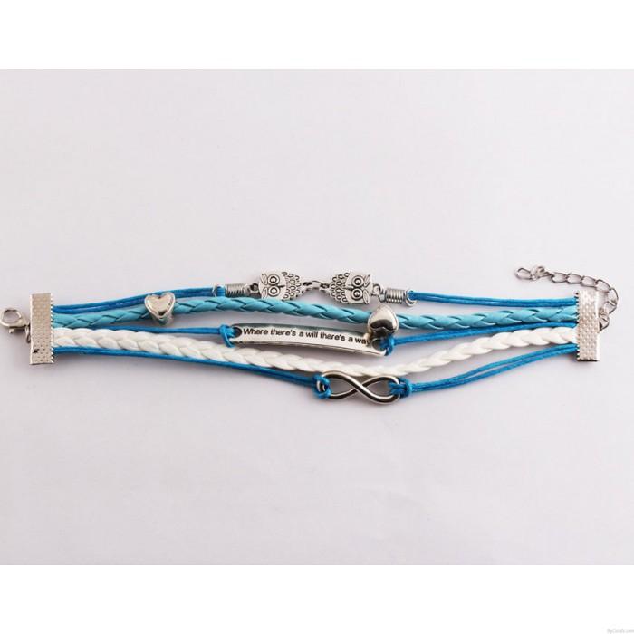 Cute Love Owl Infinity Bracelets