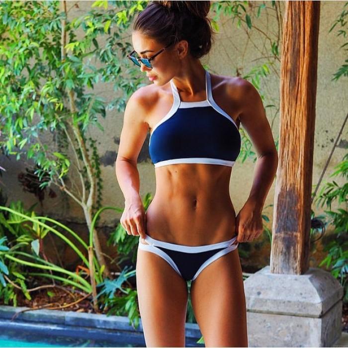 Triángulo Sexy Bikinis recortables Set Push Up traje de baño Beach Bañador