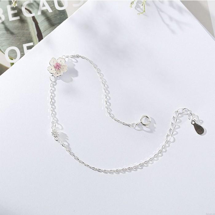 Novia fresca Accesorios de regalo Mujeres Pulsera Flores Personalidad Pulsera de cereza