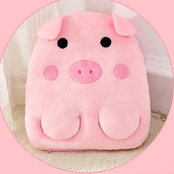 Linda Almohada Oficina USB Calentador de invierno Mono Gato Bote Cerdo Animal de la historieta Mano Calentador de pies