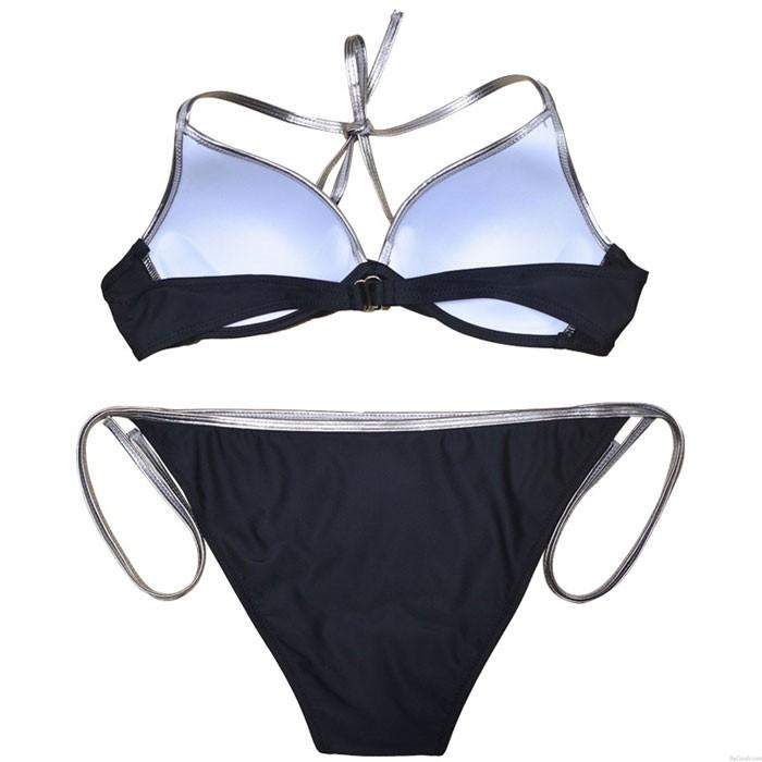 Sexy Nuevo limite Contraste Color Bikini Sling Vendaje Lady Traje de baño de verano