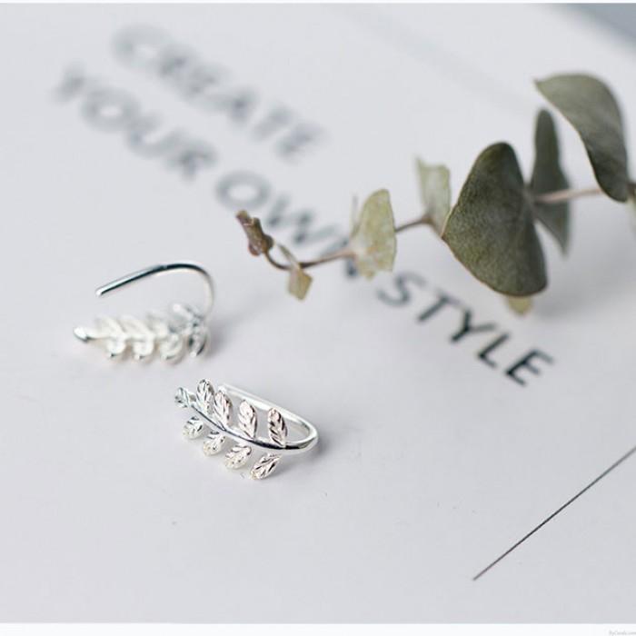 Pendientes de hojas dulces Pendientes de hojas de árbol de plata lindo Regalo para niña