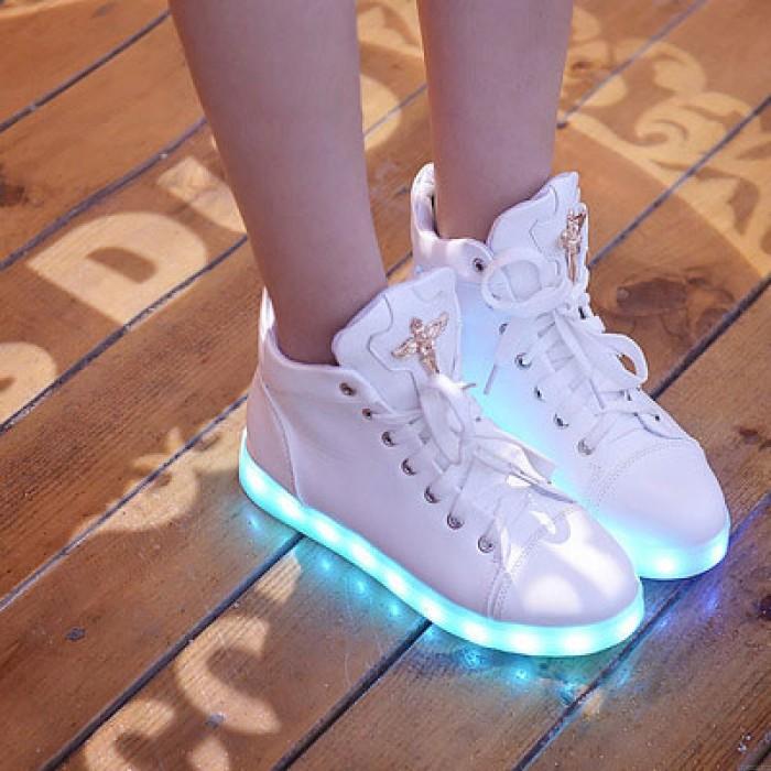 Luz de carga LED Zapatos de tacón alto Zapatillas de deporte casuales Zapatos
