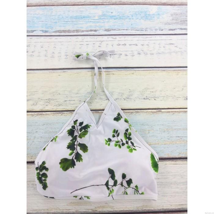 Original Bosque Hojas Impresión Bikini Conjunto Trajes de baño playa Traje de baño Traje de baño