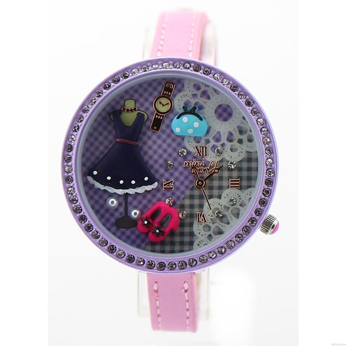 Purple Cute Princess Life Polymer Clay Watch