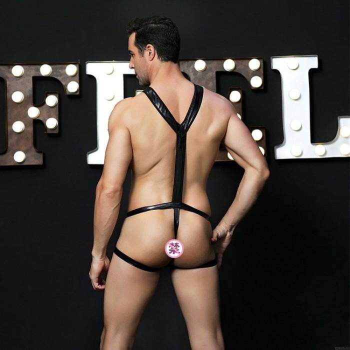 Sexy Tentación Discoteca Bar Ropa alternativa de rendimiento Uniformes siameses Hombre Lencería combinada