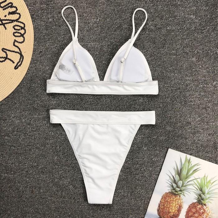 Bañador sexy de verano con cintura alta Bikini con cinturón de perforación instantánea