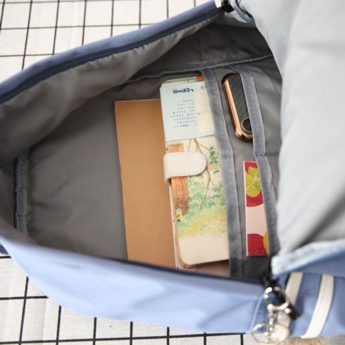 Mochila ligera grande fresca de la lona de las bolsas de libros de las muchachas adolescentes de las tres rayas