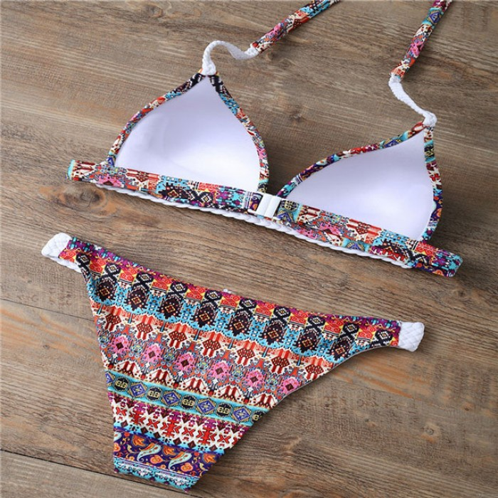 Nuevo traje de baño de Split de estilo popular de la impresión del verano traje de baño atractivo del bikiní del verano traje de baño