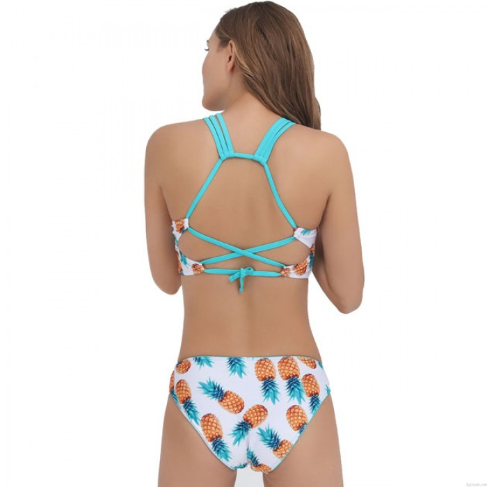 Traje de baño sexy Tank Traje de baño de baño Nuevo conjunto de bikini de impresión de piña