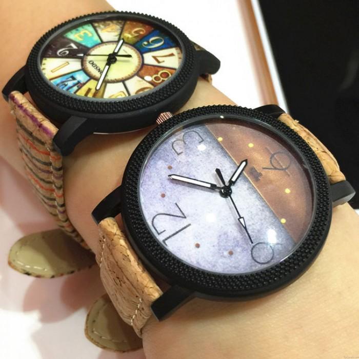 Retro Oscuridad Brújula Fantasía Roma Reloj de pulsera casual de estudiante de banda de cuero Charm