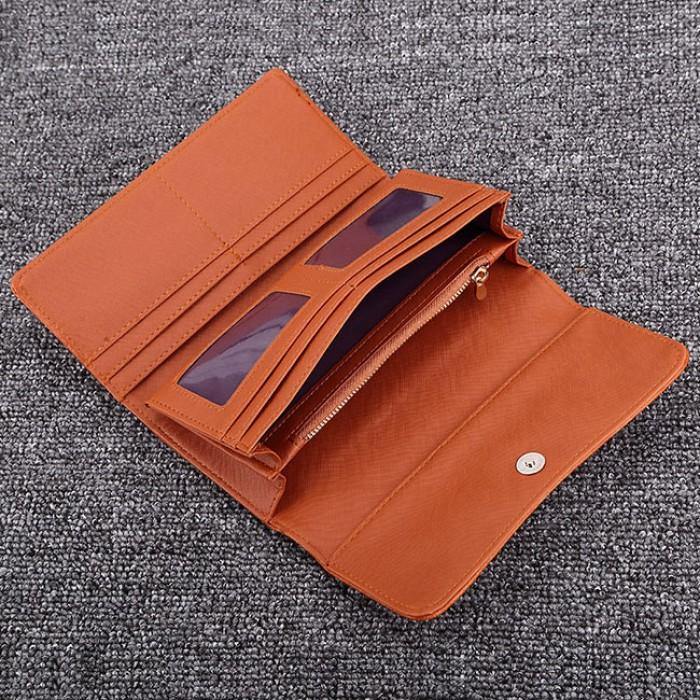 Bolso de embrague largo del monedero de la cartera de las señoras Tri-fold de la flor hueco de la moda