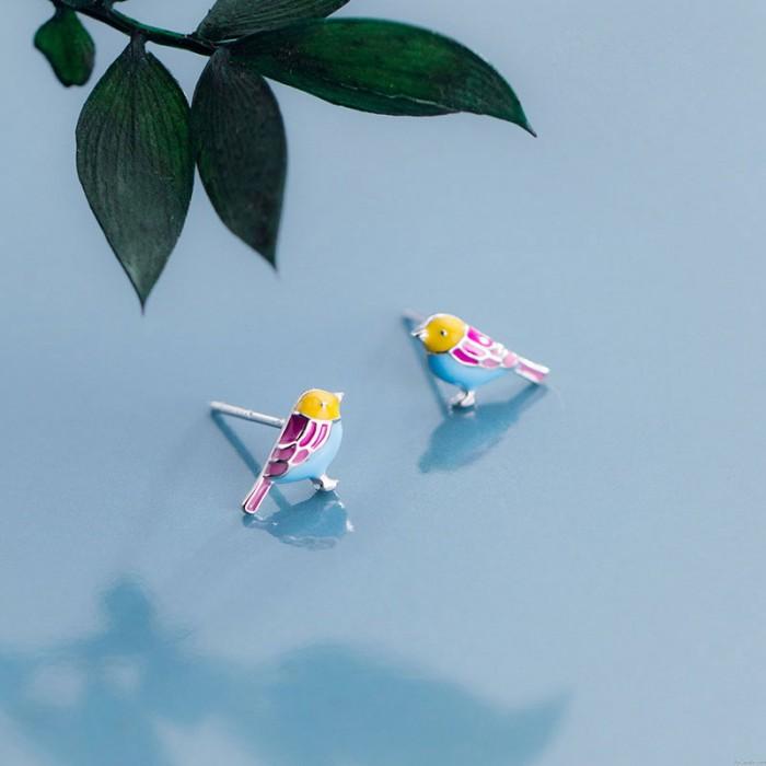 Pendientes de pájaro personalizados Colibrí Animal Pendientes Pájaro Joyas Para Niña