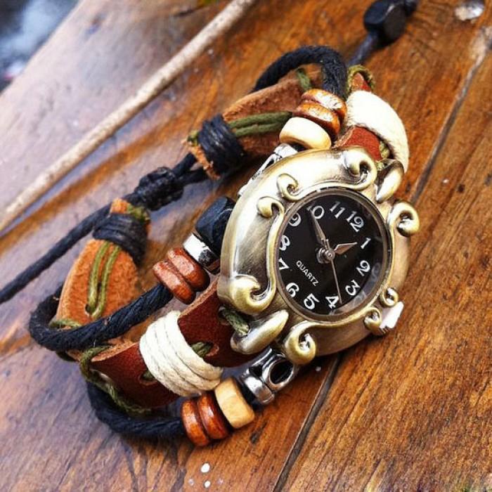 Retro National Style Bracelet Watch