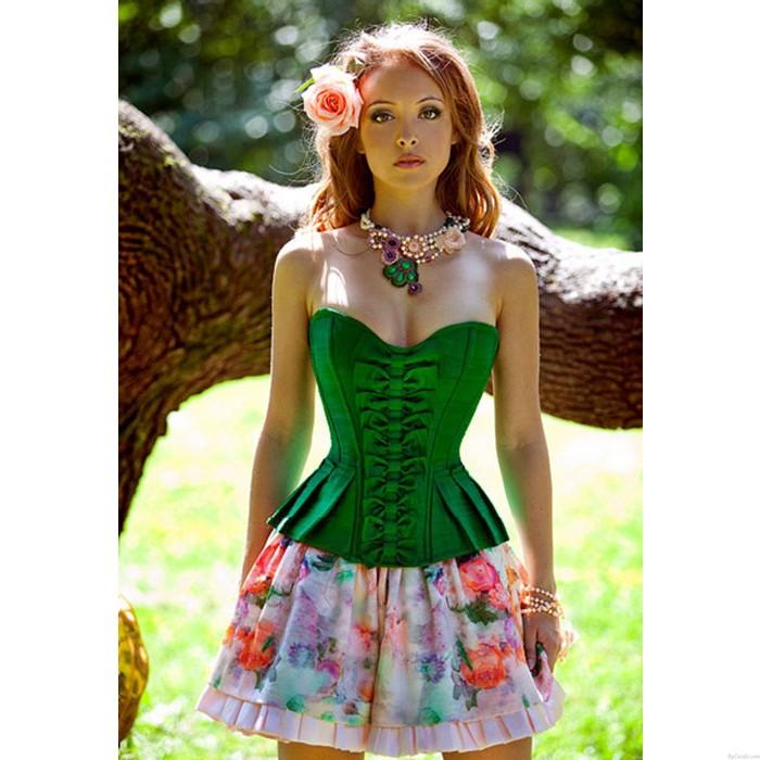 Sexy moda aristocrática princesa corsé