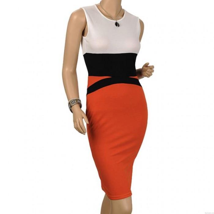 Vestido de moda para mujer Bodycon OL Style Sin mangas Vestidos delgados de noche