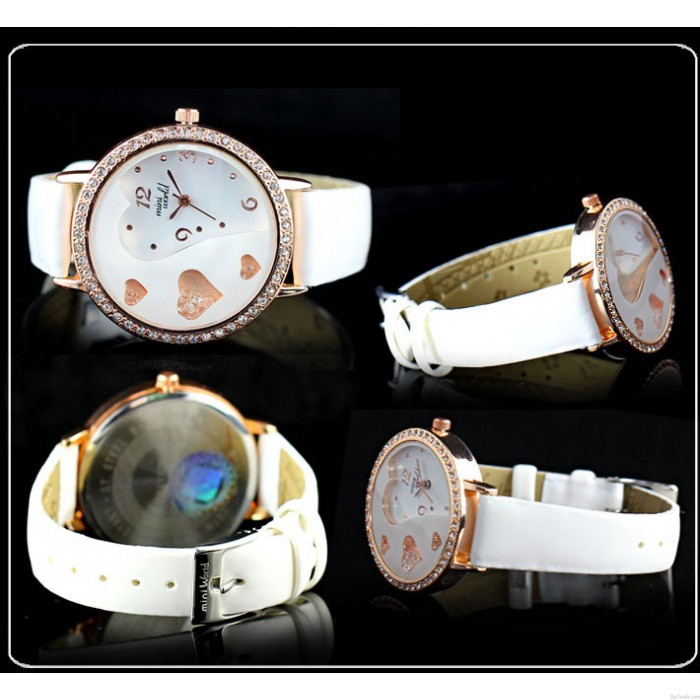 Lover Rhinestone Trim Sweet Crystal Watches