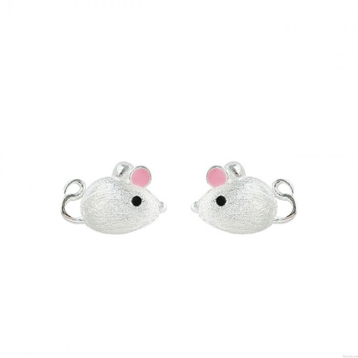 Minnie encantadora Ratón Oreja rosa Pendientes de plata Pendientes Pendientes de niñas animales