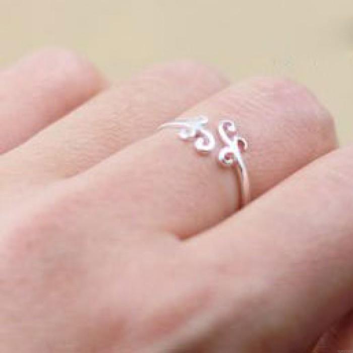 Dulce Sencillo Nube Plata anillo