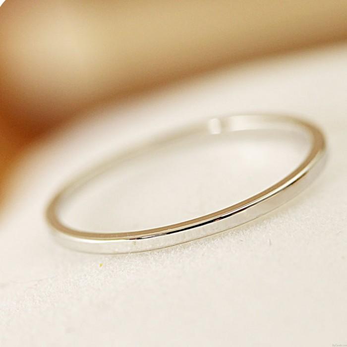 Moda Pulido Sencillo anillo