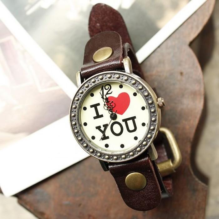 Romantic Retro  I love You Watches