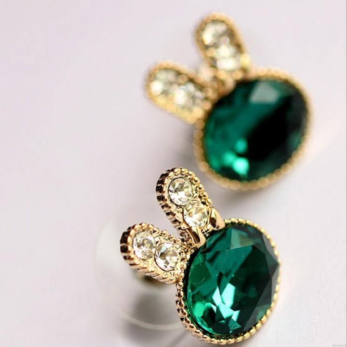 Diamante de imitación Cristal Conejito Muchacha Pendiente pernos prisioneros