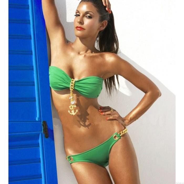 Caliente de la cadena del ancla atractivo traje de baño bikini