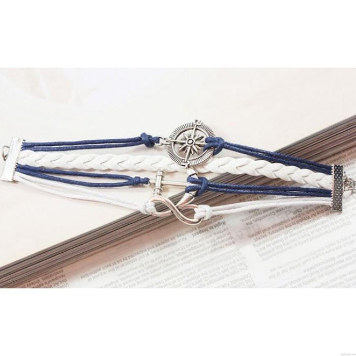 Anchor Infinity Rudder Weave Bracelet