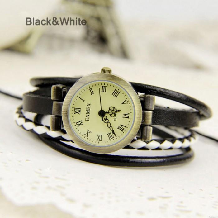 Personality punk multi-Leather Strap watch
