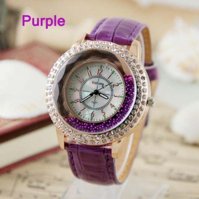 New fashion style rhinestone trim retro watch-more color to choose