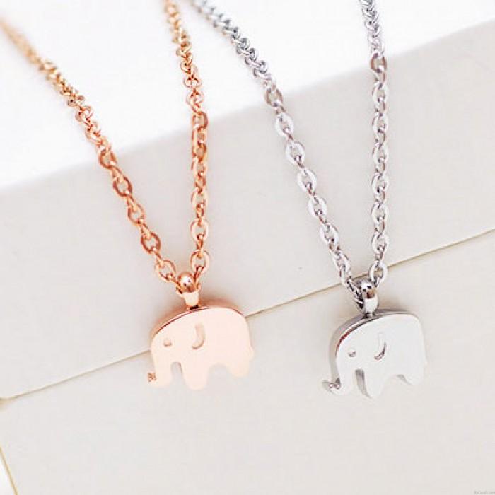 Collar de elefante chapado en oro de 18 quilates / regalo de cumpleaños