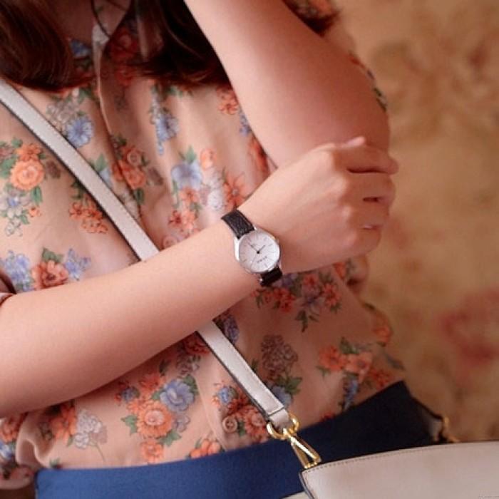 Retro Desct Cuero Cinturón Estudiantes Breve Diseño Relojes