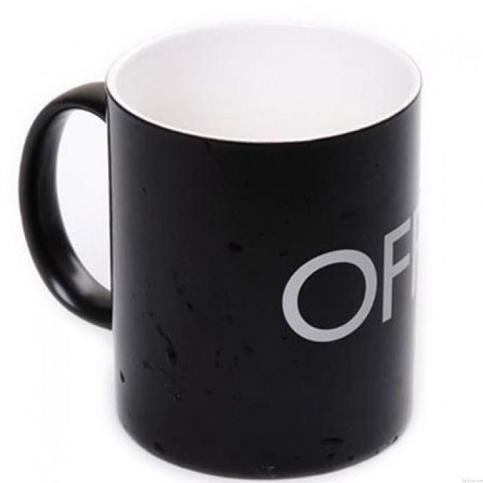 Taza de ceramica con sensor de temperatura y taza de leche