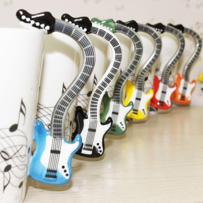 Divertidos Regalos Creativos Hoja Nota Música Guitarra Taza Taza
