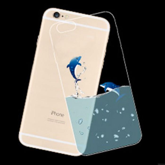 Junte los casos suaves finos transparentes de Iphone del gel de silicona del delfín para 5 / 5S / 6 / 6Plus