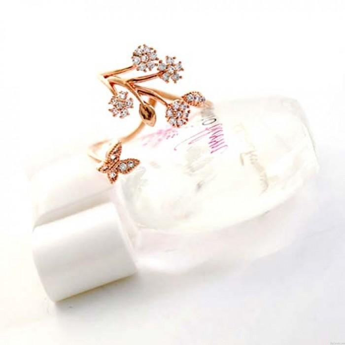 Árbol de copo de nieve único deja ramas anillo abierto flor