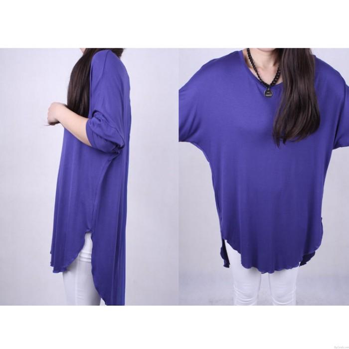 Blusa de gasa de primavera suelta camiseta de manga larga