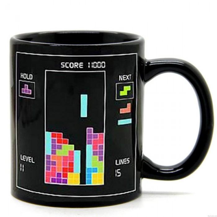 Taza de café Tetris de regalo especial que cambia de color