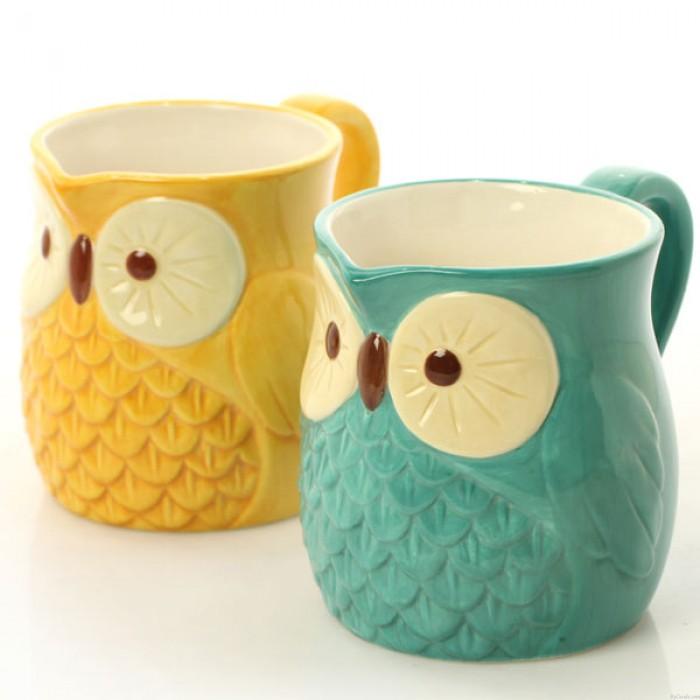 Regalo dulce de la decoración de la Navidad del búho / taza de la taza / taza de cerámica