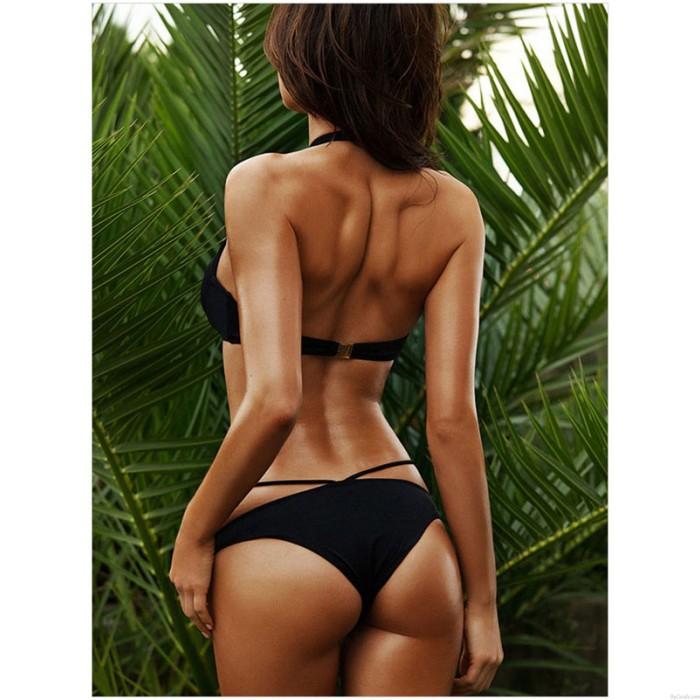 Bikinis de moda de la correa cruzada atractiva del hombro