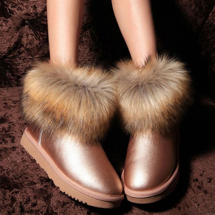 Botas de nieve antideslizantes de lana de moda
